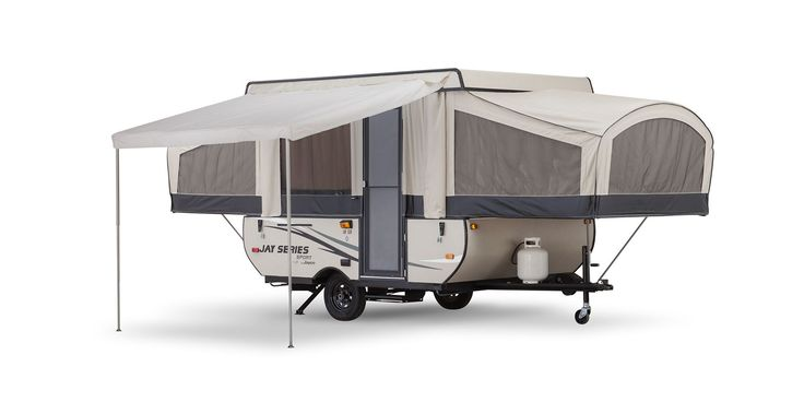 <strong>Great Options</strong>Jay Series Sport offers many options and packages to choose from, including this optional self-storing canopy awning.