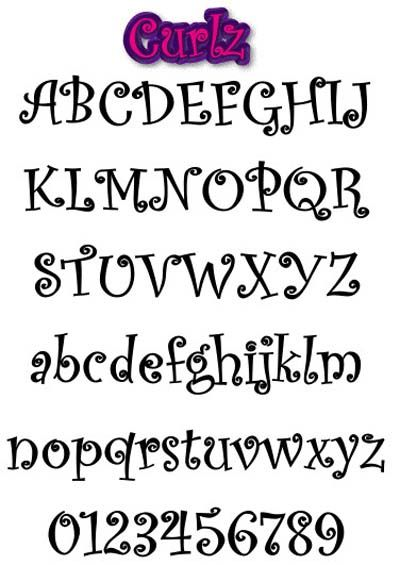 Different Font Styles Alphabet