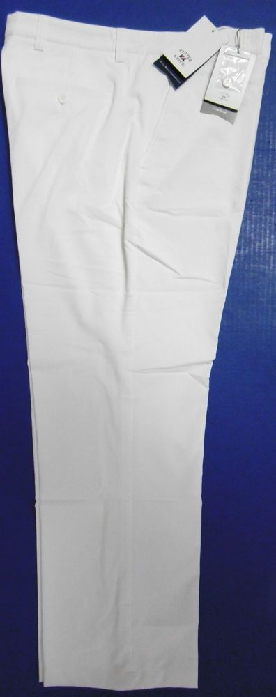 CUTTER & BUCK PRO TEC MENS GOLF PANTS SLACKS 39 x 30 MCB01731 WHITE GOLF WEAR B7 #CUTTERBUCKGOLFWEAR #WINDTECWEATHERTECDRYTECPERFORMANCEWEAR