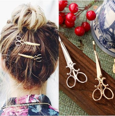 mix wholesale hot 2017 New Popular Women Lady Girls Scissors Shape Barrette Hair Clip Hairpin Hair Accessories Decorations  Price: 0.48 USD