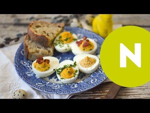 Töltött tojás három változatban | NOSALTY