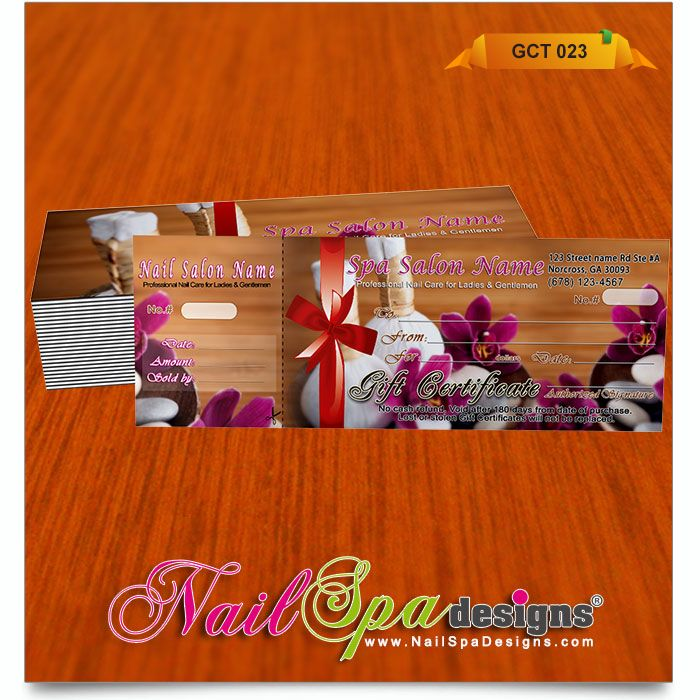 48 best Nail Spa Gift Certificates 001-025 images on Pinterest - best of photographer gift certificate template
