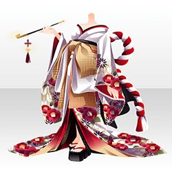 上半身/インナー 妖楼椿姫の艶装束赤