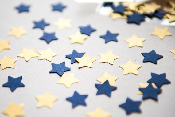 Mix di 300 coriandoli a Stella Blu e Oro di BrightSpotOfColour