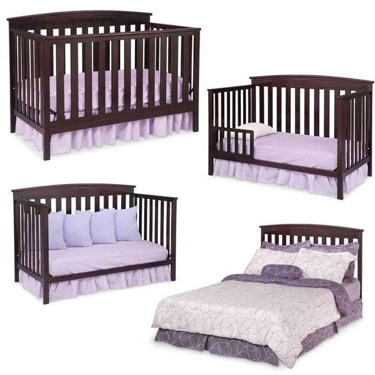 convertible baby crib 4 in 1 mattress toddler nursery bed changer side daybed - Convertible Baby Cribs