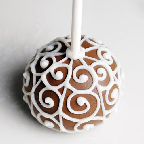 Mini Wedding Brownie Favor Pops