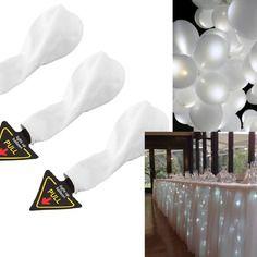 lot de 15 ballons led lumineux blanc 2 guirlande de led 4 metres decoration salle - Ballon Phosphorescent Mariage