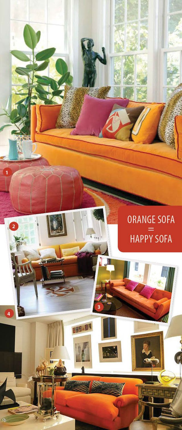 Aunt Peaches: Orange Sofa: AND NOW IT'S COMING