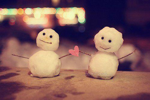 Snowmen in Love :)
