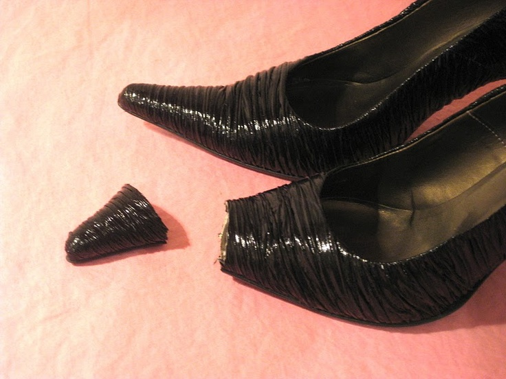 it needs a little more thought, but the idea is somewhat doable.              tousled day: Cipele / Shoes refashion