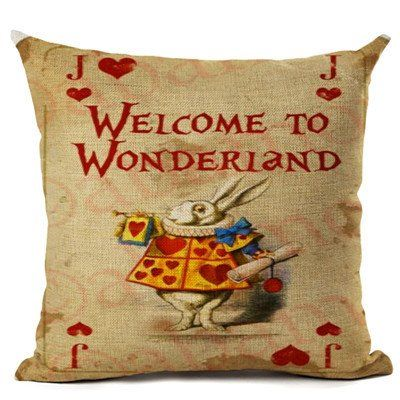 Alice in Wonderland Vintage Pillow Cover  Illustration Cushion (8 Styles)