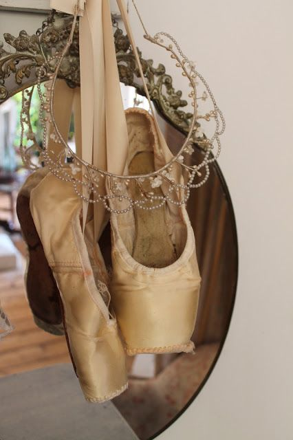 I need to do this with my old pointe shoes! Line up all the pairs!