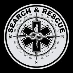 Search & Rescue Round Reflective Decal Sticker by TheStickerman (be great to have our local SAR team logo in the middle)