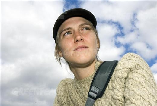 Swedish activist Karin Flack, on-board the Arctic Sunrise. The Arctic Sunrise tours the Baltic Sea, as Greenpeace looks at issues concerning both oceans and toxics campaigns.09/05/2006  © Greenpeace / Christian Aslund