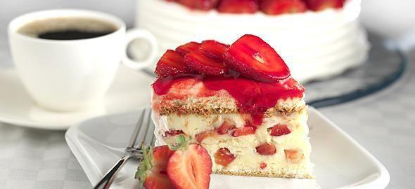 Αφράτο και γλυκό κέικφράουλας