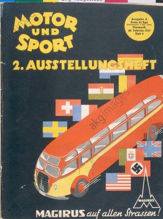 """Automobil- und Motorrad Austellung Berlin 1937 (Titelseite der Zeitschrift """"Motor und Sport"""")."""