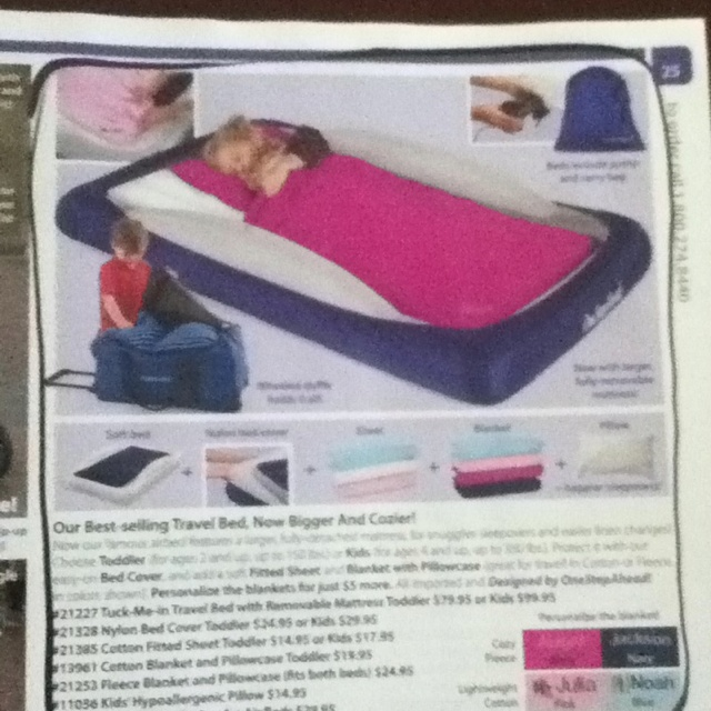 Tuck Me In Travel Toddler Bed With Removable Mattress From One Step Ahead