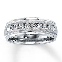 14K White Gold 1/2 Carat t.w. Diamond Band for Him