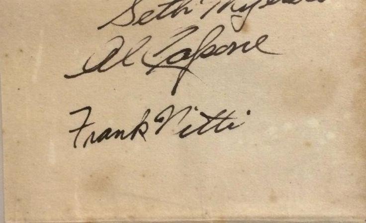 Al Capone & Frank Nitti Original Signatures