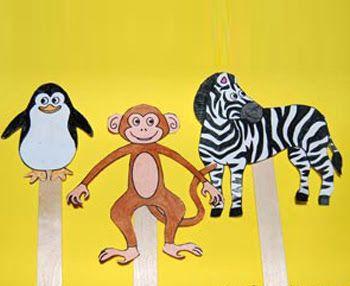 Zoo Animal Stick Puppets