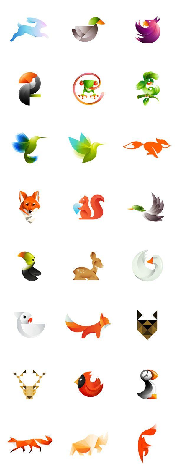 gradient illustration style animal icon