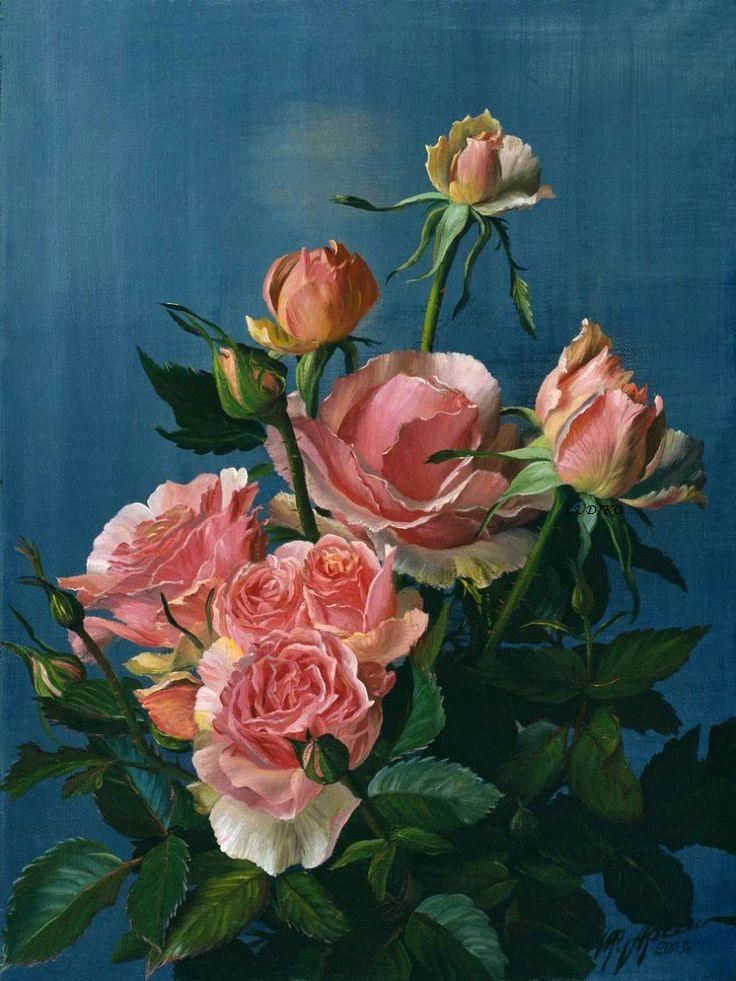 Yuri Arseniuk Russian art Flower painting, Flower art