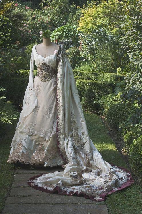 Irish wedding dress.