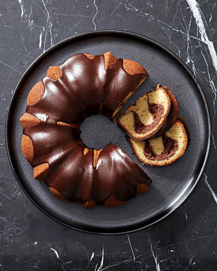 Vanilla Bundt Cake with Chocolate-Cream Cheese Filling Recipe   Martha Stewart Living — We like to think of this spectacular dessert as a giant vanilla pound cake stuffed with chocolate cheesecake.