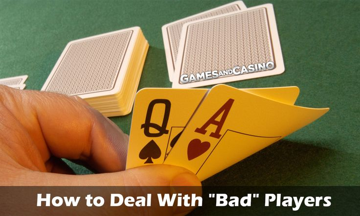 """⭐How to Deal With """"Bad"""" Players⭐ http://www.gamesandcasino.com/casino-table-games/blackjack/deal-bad-players.htm #blackjack #tips #casino"""