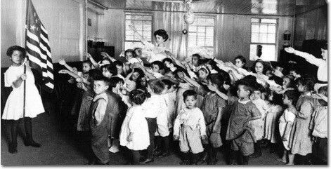"Hitler ruined several perfectly good things forever -- tiny mustaches, the swastika as a good luck charm, and all hand signals that look anything like the ""Heil Hitler"" salute. But Hitler didn't invent any of them. For decades, children across America happily heiled the Stars 'n' Stripes in what was then known as the Bellamy salute."