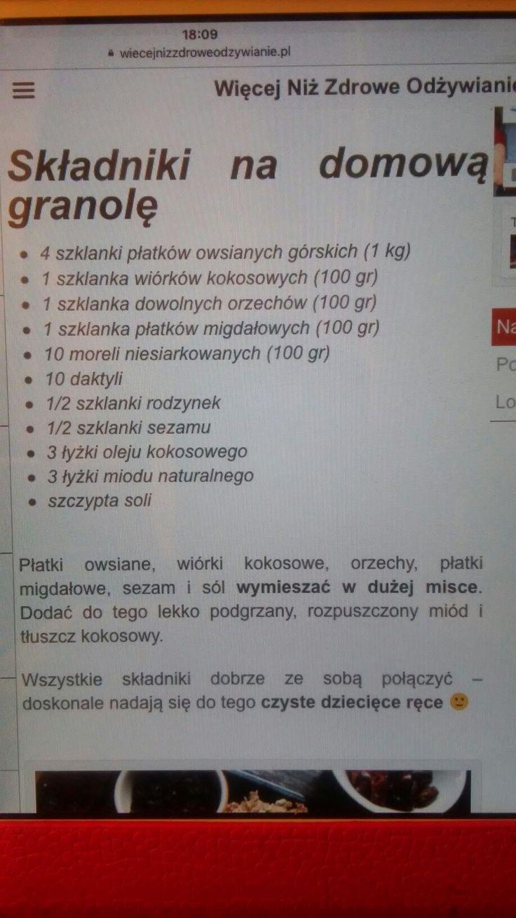 Domowa granola Piecz 100 50 min.