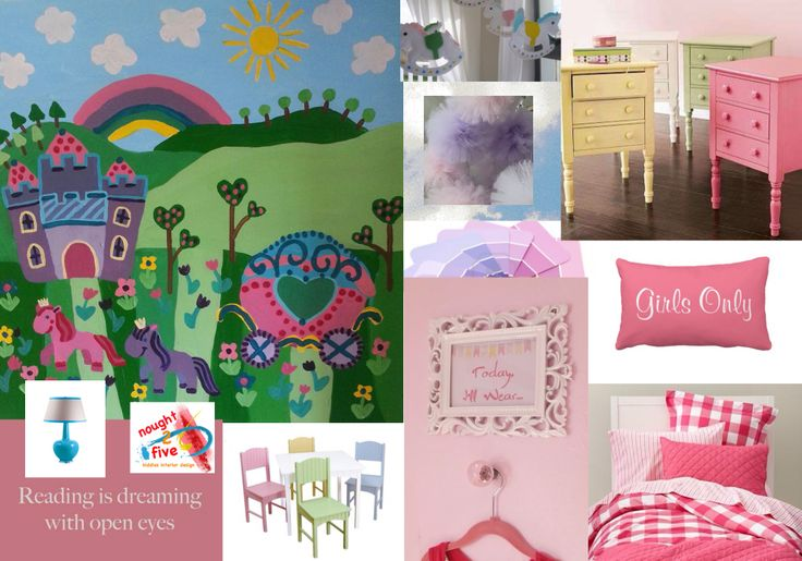 Pony themed bedroom, design and painting by nought 2 five. www.facebook.com/noughttwofive