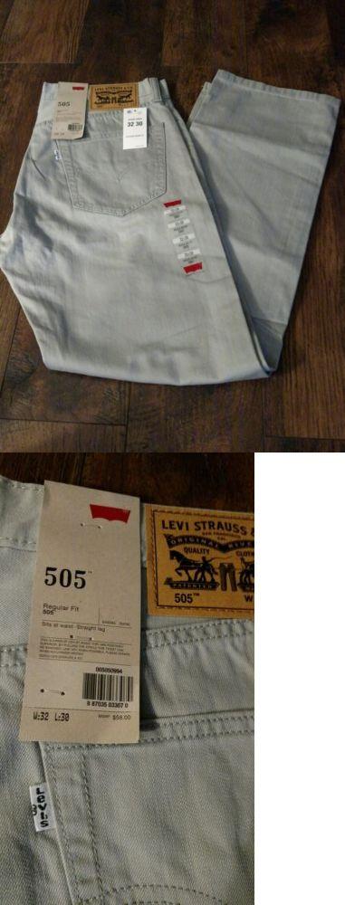 Jeans 11483: Nwt Men Levis 505-0994 Regular Straight Leg Jeans $58 Light Gray Limestone 32X30 -> BUY IT NOW ONLY: $32 on eBay!