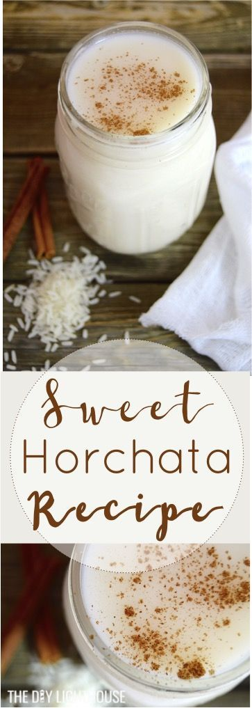 Cinco de mayo drink idea! Homemade horchata recipe. Ingredients list and easy directions for how to make your own. Sweet, chilled Mexican horchata drink made with rice + cinnamon. Perfect party food to share for cinco de mayo!