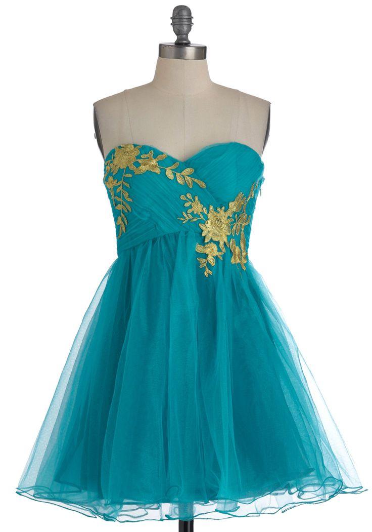 Garden Cotillion Dress in Teal - so pretty!