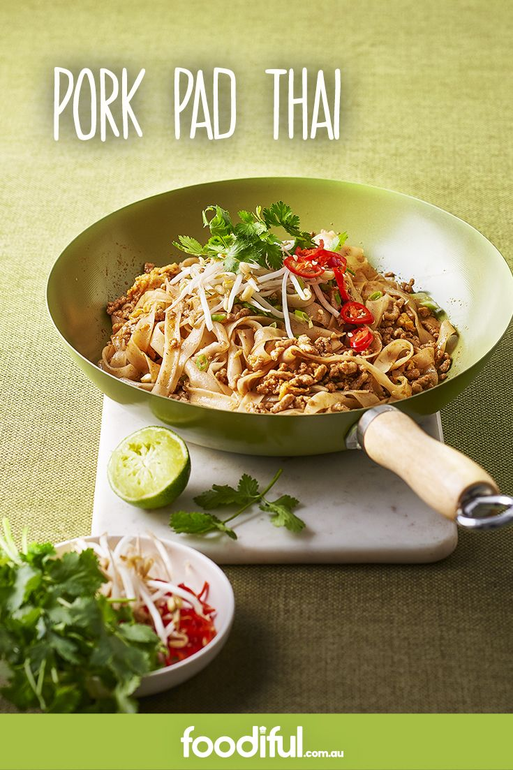 This pork pad Thai recipe is fast and super easy. You can add as much or as little chilli as you like, and when served with lime slices, it's an incredible weeknight meal. This pad Thai recipe serves 4 and takes 20 minutes.