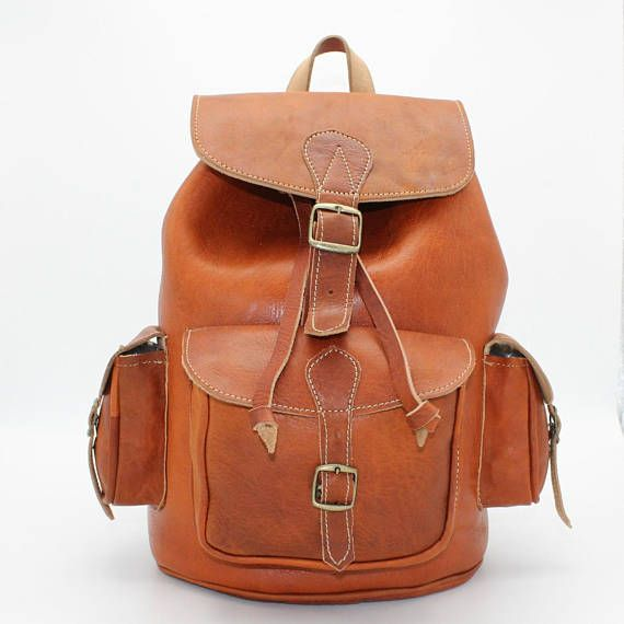 Brown leather rucksack, womens leather backpack, mens leather brown backpack, sac a dos cuir femme, sac a dos tabac,  everyday bag leather