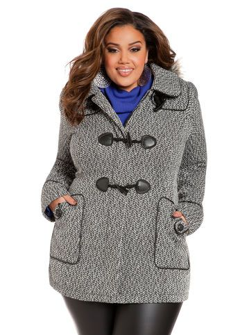Plus size tweed coat  for women , curvy fashion for women, plus size outfits inspiration