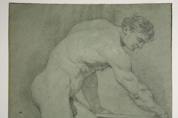 Nicolas II DE POILLY (1675-1747): Männliche Aktstudie Große Bleistiftzeichnung in Antiquitäten & Kunst, Grafik, Handzeichnungen, Originalzeichnungen vor 1900 | eBay