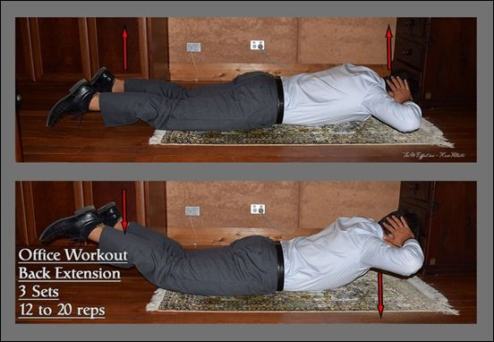 The Workplace Workout – Upper Body Back Extension