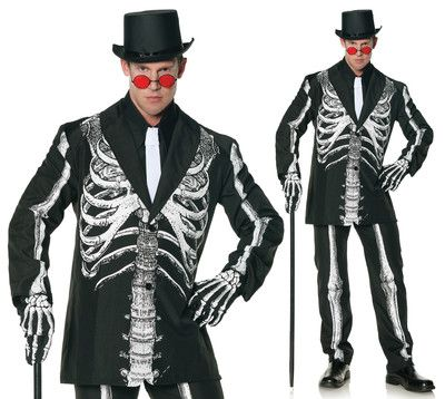 mens day of the dead skeleton suit halloween costume ebay