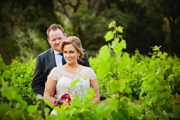 Vineyard wedding photo. Photography by The Arched Window, Mount Tamborine.