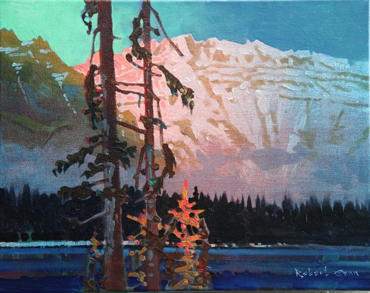 Check out article: Colour Choice and Adjustment by Robert Genn:  NOTE: Sketch example is: Alpenglow, Mt Lefroy, Banff National Park. acrylic on  canvas 11 x 14 inches by Robert Genn