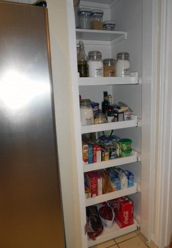 25 best ideas about pull out pantry shelves on pinterest - Roll out shelving for pantry ...