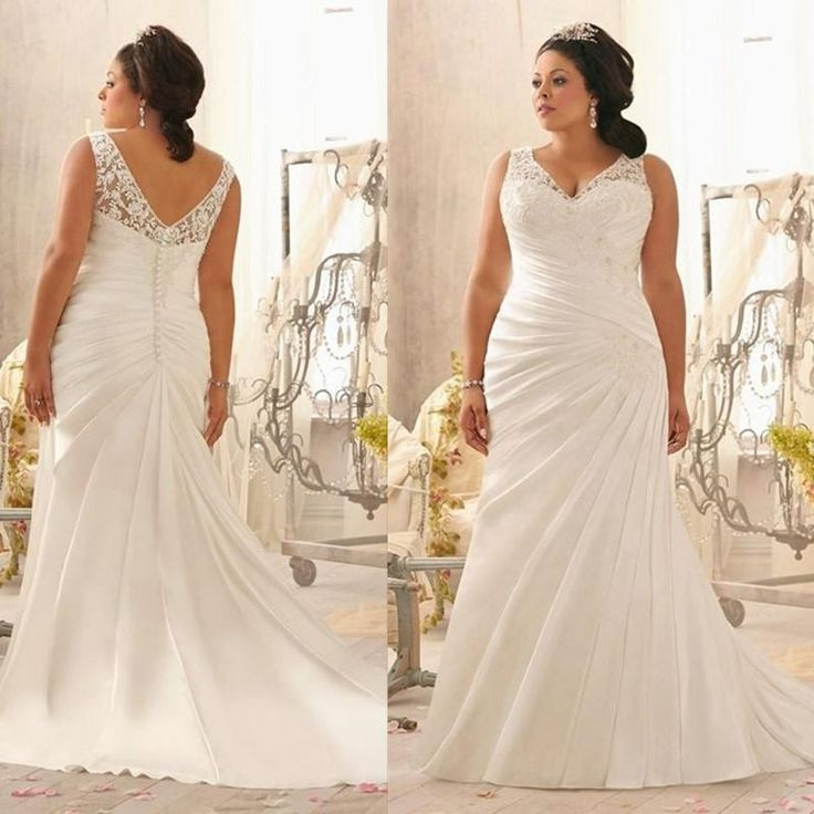 Wedding dresses for short fat brides flower girl dresses for Wedding dress for fat