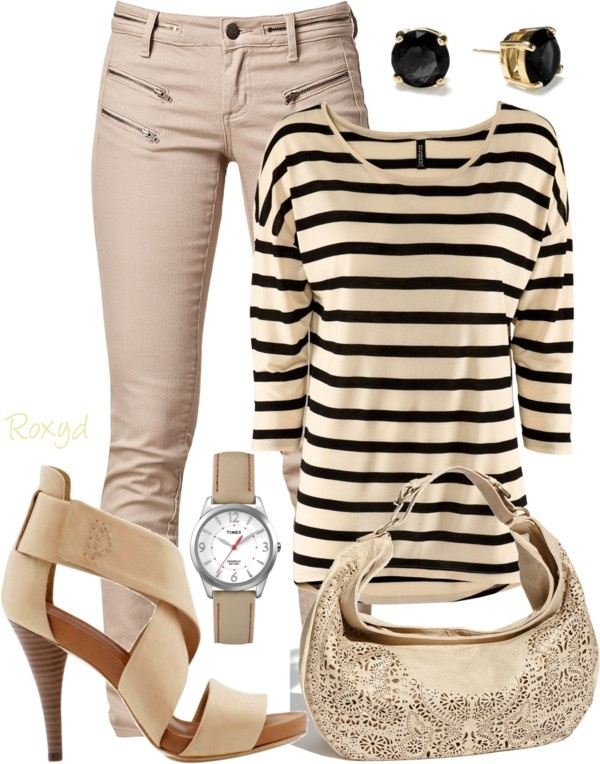 """Stripes"" by roxyd on Polyvore"