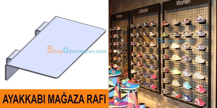 ayakkabı mağazası rafı