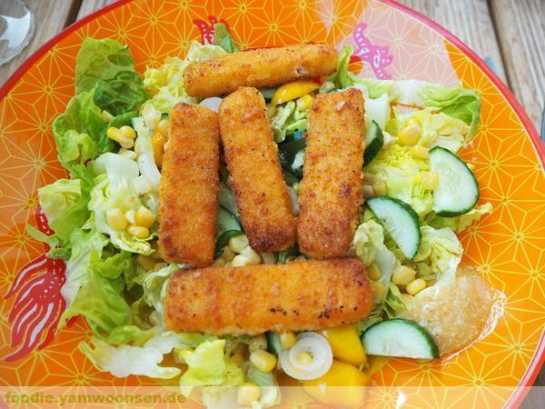 Fischstäbchen-Salat
