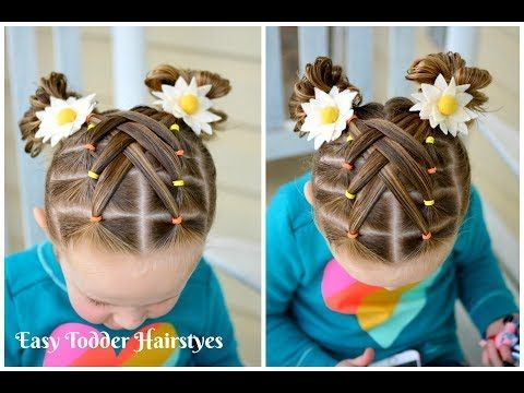 (6) Cascading Weaved Elastics, Little Girl Hairstyle - YouTube