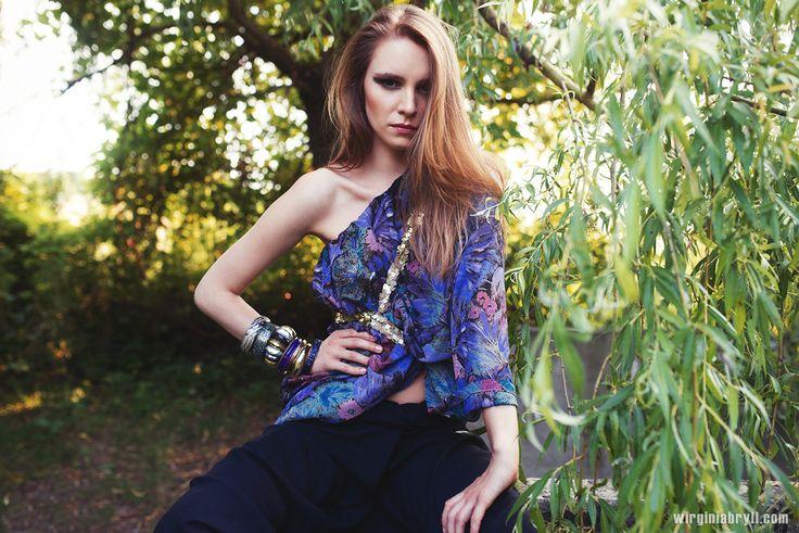 make up & styling Ursula Rosa  model Joanna Martauz photography Wirginia Bryll  etno style, editorial boho, glam bohemian